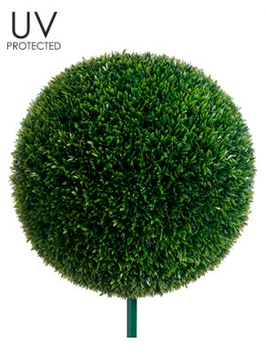 "19"" UV Protected Tea Leaf Ball with 10"" Metal Pole Green"