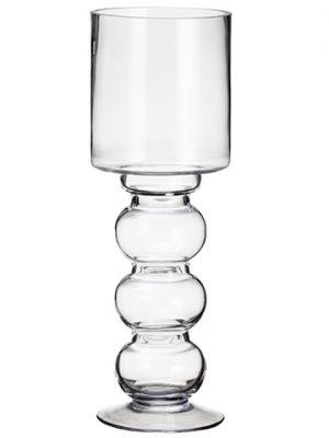 "13.5""H x 4.75""D Glass Vase Clear"