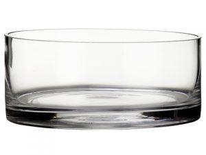 "3.25""H x 7.5""D Glass Vase Clear"