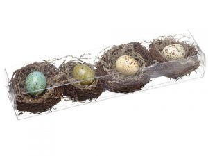"11.5""Lx3""W x 2""H Bird's Nest With Egg (4 ea/acetate box) Assorted"