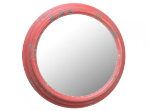 "10.6"" Metal Mirror Antique Red"