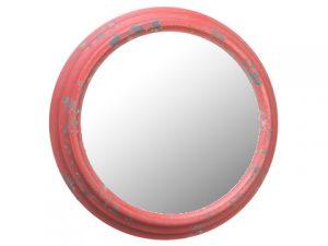 "10.6"" Metal Mirror Antique Red"