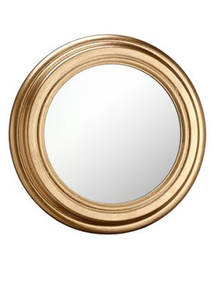 "13"" Metal Mirror Dark Gold"