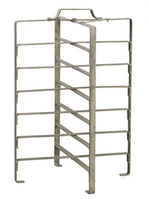 "22.4""H x 15.55""W x 15.55""L Metal Rack Antique Silver"