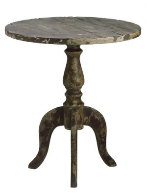 "29.33""H x 25.98""D Wood Table Gray"