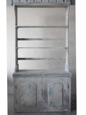 "86.2""H x 16.5""W x 45.8""L Cabinet Antique Gray"