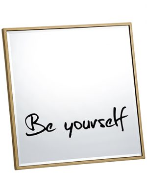 "12""W x 12""L Be Yourself Mirror Clear Gold"