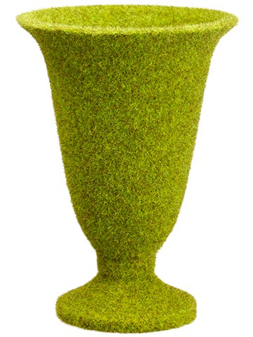 "10"" Moss Covered Urn Green"