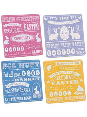 "14""W x 14""L Easter Placemats (4 ea/set) Mixed"