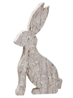"13.5"" Bunny Table Top Whitewashed"