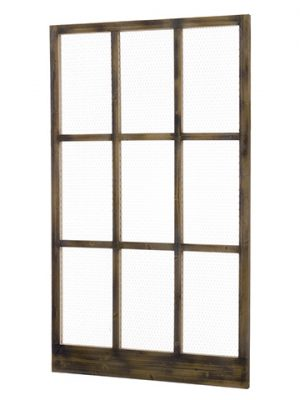 "42""W x 72""L Wood/Meshed Window Brown Rust"