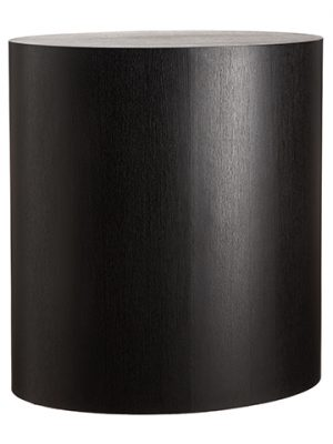 "39.5""H x 23.5""W x 35.5""L Wood Oval Pillar Black"