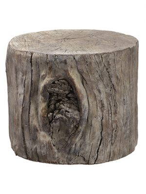 "8""H x 9.5""D Cement Stool Brown"