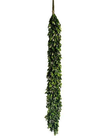 "45.2"" Preserved Boxwood/Statice Garland Green Cream"