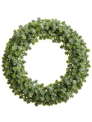 """15"""" Sedum Wreath Green"""