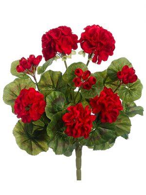 """13"""" Geranium BusH x 8 Red"""
