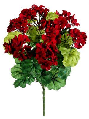 """17.5"""" Geranium BusH x 7 Red"""