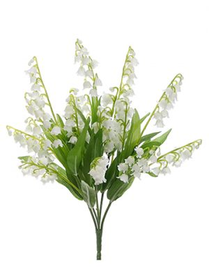 "12"" Lily of The Valley Bush x5 White"
