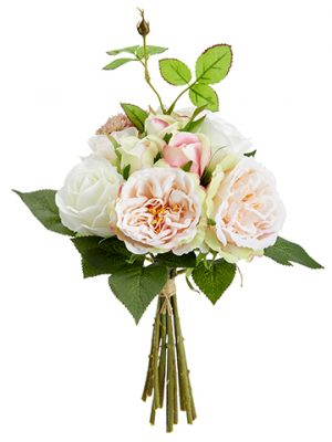 "12"" Rose Bouquet Pink Cream"
