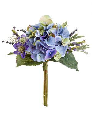 "11"" Hydrangea/LavenderBouquetPurple Blue"
