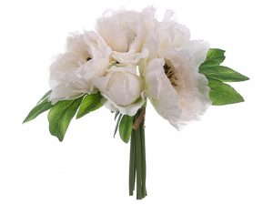 "10"" Peony Bouquet White"