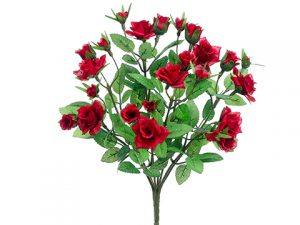 "13"" Mini Rose BusH x 8 Red"