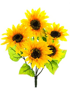 """18"""" Sunflower BusH x 5 Yellow"""