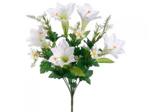"19.5"" Easter Lily/Daisy Bush x10 White"