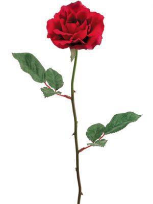 "23"" Single Medium Rose Sprayx1Red"