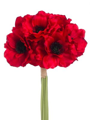"12"" Anemone Bundle x6 Red"