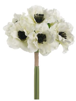 "12"" Anemone Bundle x6 White"
