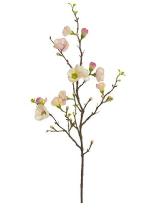 """35"""" Quince Blossom Spray Two Tone Pink"""