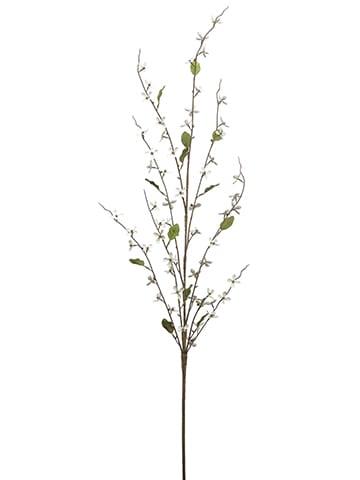 """47"""" Meadow Blossom Spray White"""