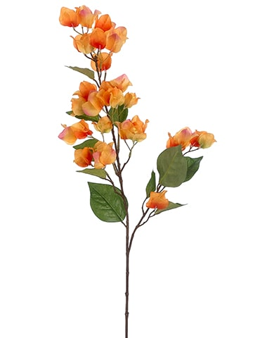 "34"" Bougainvillea Spray Orange Pink"