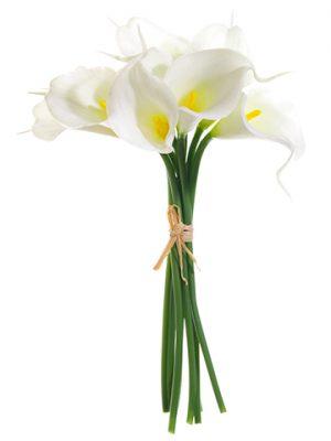 """12"""" Calla Lily Bundle x9 White"""