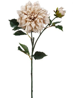 "19.5"" Dahlia Spray Beige"