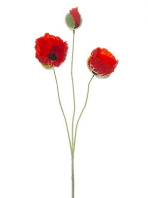 """20"""" Poppy Spray Red"""