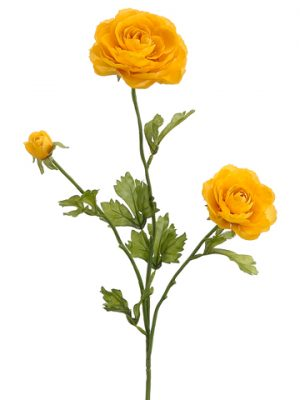 """27"""" Ranunculus Spray x3 Yellow"""