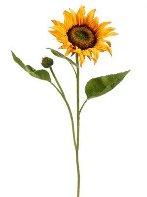 "18"" Sunflower Spray Yellow Orange"