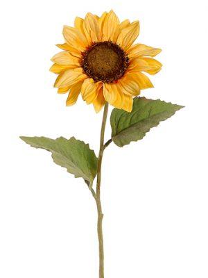 "24"" Sunflower Spray Light Yellow"