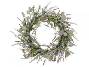 "22"" Lavender/EucalyptusWreathLavender Green"