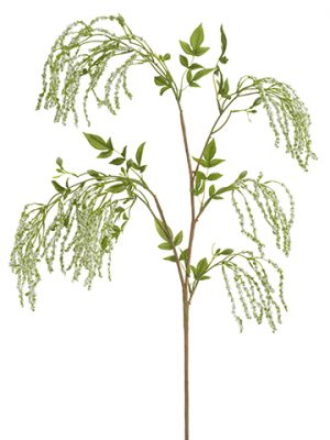 "53"" Amaranthus Hanging Spray White Green"