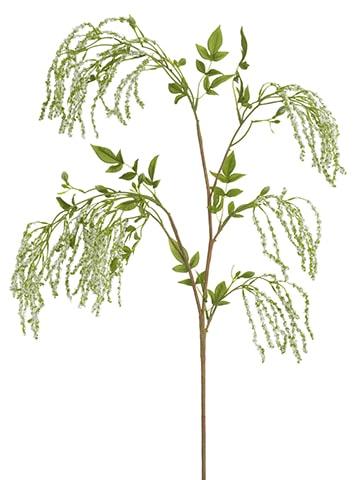 """53"""" Amaranthus Hanging Spray White Green"""