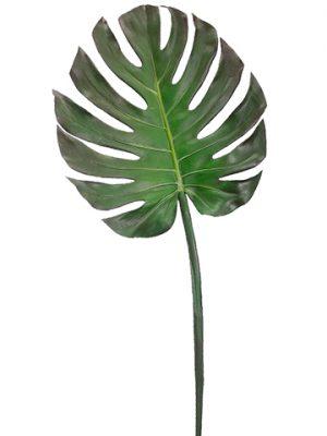 "41"" Monstera Leaf Spray Green Brown"