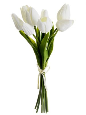 "10"" Soft Touch Tulip Bundle x8 White"