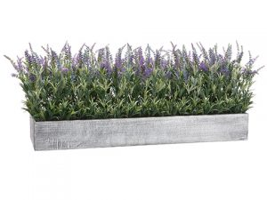 "16""H x 16""W x 45""L Lavender inWood PlanterLabender Purple"