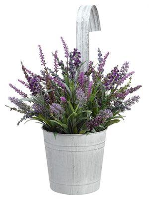 "12.5"" Hanging Lavender in TinPotPurple Lavender"