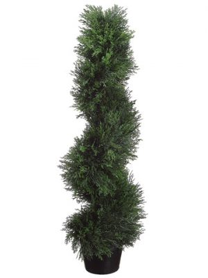 3' Spiral Cedar Topiary inPlastic PotGreen