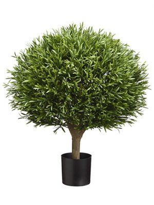 """25.5"""" Ball Shaped LavenderLeaf Topiary in PotGreen"""
