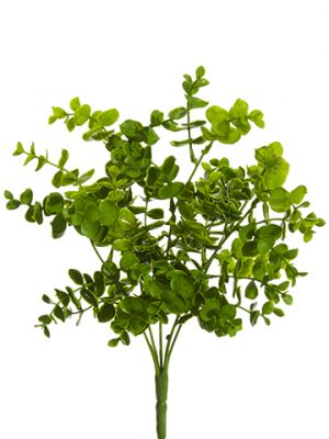 "13"" Soft PE Eucalyptus Bush Green"
